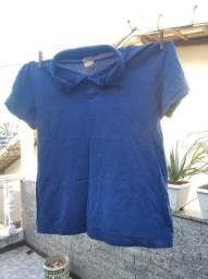 Camisa polo azul tam G