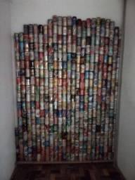 Coleção de latinhas e cerveja antigas