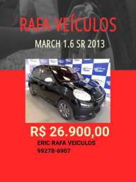Rafa Veiculos!! March 1.6 Sr top 2013 r$ 26.900,00 - Eric Rafa Veículos
