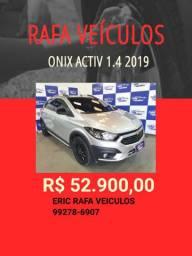 Rafa Veiculos Onix activ 1.4 2019 De: R$ 52.900,00 Por R$ 49.900,00 - Eric