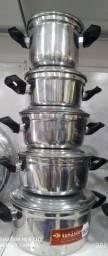 Conjunto de panela inox/ NOVA  R$150