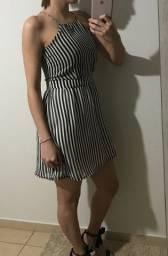 Vestido listrado verão P