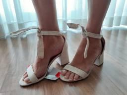Linda sandália linho nova