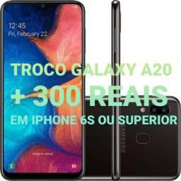 Galaxy A20 em iPhone 6s