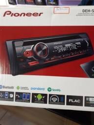 Cd Pioneer DEH-S31BT com Bluetooth SD novo com garantia instalado em seu carro