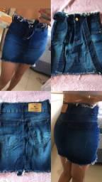 Desapegando Saia jeans feminina