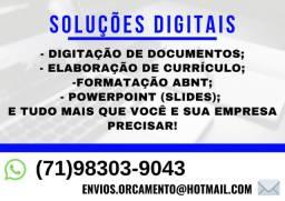 (87) Digitação, Currículo, Formatação ABNT, Slides, Apresentações etc