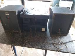 Toca-disco funcionando com duas caixas zap *