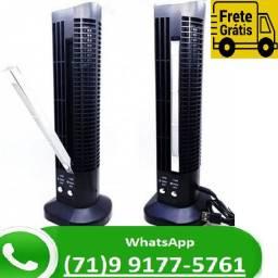 Mini Ventilador E Abajur Base Vertical 2 Velocidades (NOVO)