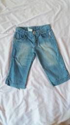 Calca capri infantil jeans
