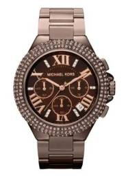 Relógio Michael Kors Feminino 'Camille' Espresso Chronograph Watch - MK5665