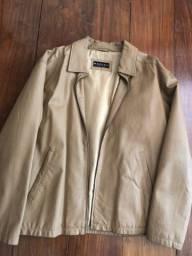 Jaqueta masculina em couro legítimo TAM M