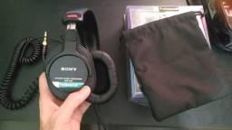 Fone de ouvido Sony MDR-7506 Profissional, original, na caixa com Nota Fiscal