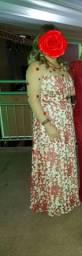Lindo vestido bordado de festa