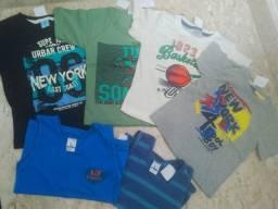 Camisas/Blusas/ T-shirt  infantis Masculinas