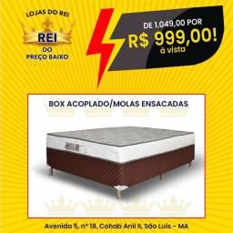 PROMOÇÃO CAMA UNIBOX CASAL GLADIADOR MOLLAS ENSACADAS SÓ 899