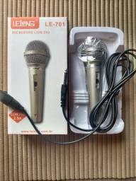 Microfone Profissional Com Fio Lelong Le-701