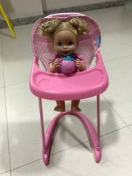 Cadeira para alimentação bebê reborn