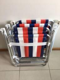 Cadeira de praia - Jogo 3 cadeiras