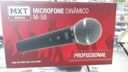 Microfone com fio,3 metros de cabo.