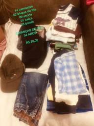 Lote de roupas infantis masculinas - 20,00