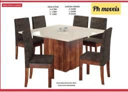 Mesa atena com 6 cadeiras* *