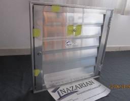Portinhola abrigo alçapão de aluminio com chaves 60x60cm