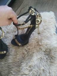 Sandália dourada 38