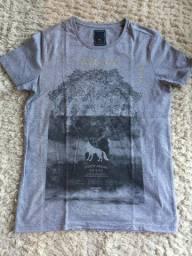 Camiseta Acostamento Outfitters Original Tamanho P Cor Cinza Nova Zerada - Promoção!