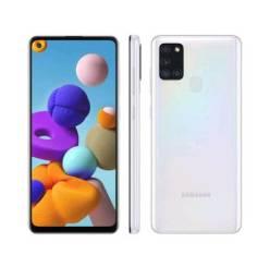 Samsung Galaxy A21S 64GB branco novo na caixa.