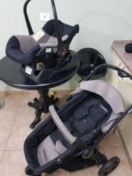 Carrinho Kiddo Compass III -moises + Bebê Conforto + Base