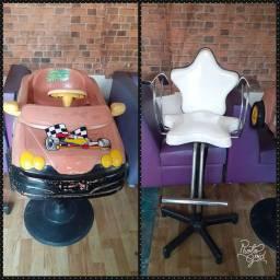 Cadeira de corte infantil + carrinho de corte infantil