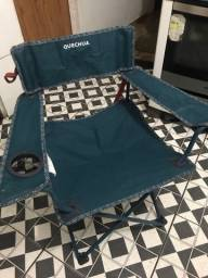 Cadeira quechua camping dobravel nova