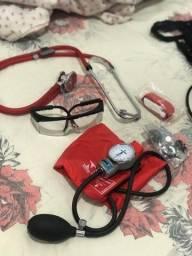 Título do anúncio: Kit estetoscópio e esfigmomanômetro