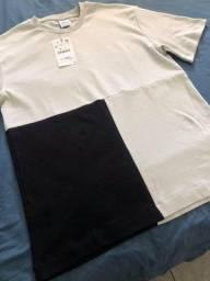 Camiseta Zara 3 Cores P/M