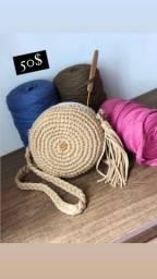 Bolsas artesanais de crochê, a pronta entrega e por encomenda?