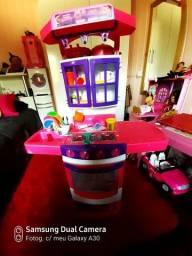 Kit infantil fogão, geladeira e máquina de lavar roupa
