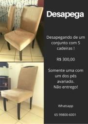 Conjunto 5 cadeiras