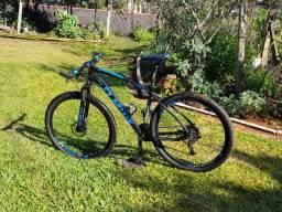 Bicicleta aro 29 gts m1 freio hidráulico k7 e trava guidao
