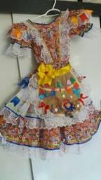 Vestido Junino semi novo