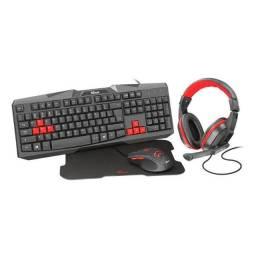 Kit Gamer Teclado + Mouse + Headset e Mousepad - pronta entrega - Trust Ziva 4x1 T22428