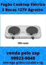 Fogão Cooktop Elétrico 2 Bocas 127V Agratto