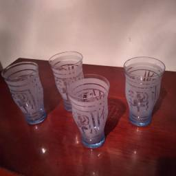 Conjunto de 4 copos da década de 50