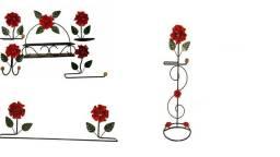 Kit Banheiro Completo Artesanal Com Flores
