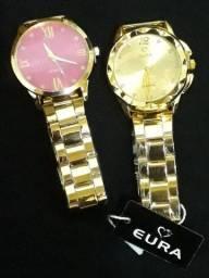 Título do anúncio: Relógios muito bonito bom feminino e masculino