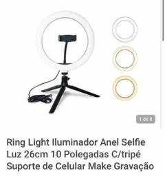 Vendo Ring Light 26 cm com tripé
