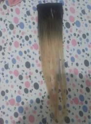 Pequena tela fita adesiva cabelo humano 65cm