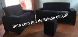 Título do anúncio: sofá com puff de brinde