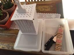 Utensílios para preparar churrasco