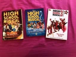 Livros High school musical 1,2 e 3